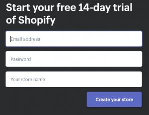 Shopfiy free trial