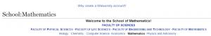 Wikiversity School of Mathematics
